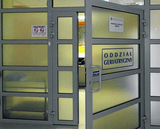 Oddział geriatryczny szpitala w Wadowicach został zamknięty na tydzień