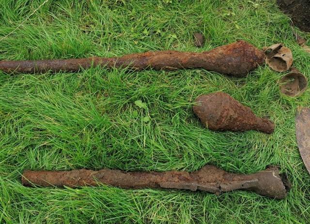 Saperzy wydobyli trzy pociski z czasów II wojny światowej
