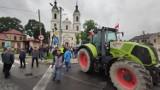 Protest rolników w Srocku koło Piotrkowa, 24.08.2021. Agrounia zablokowała DK12 na dwa dni ZDJĘCIA
