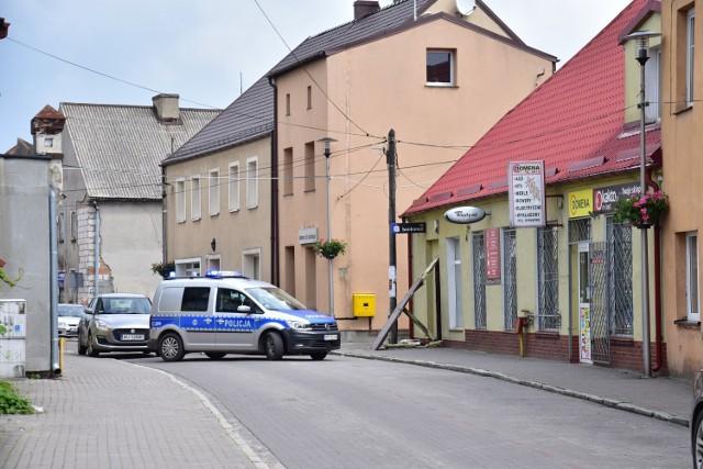 Policjanci na miejscu zdarzenia