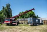 Straż pożarna w Kaliszu dostała morski kontener. Będą w nim ćwiczyć ratownicy