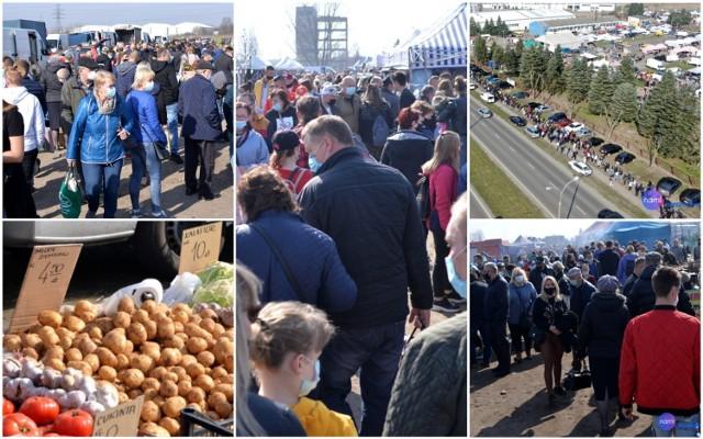 Tłumy na Pchlim Targu we Włocławku - 11 kwietnia 2021