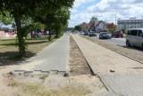 Powstaje brakujący fragment drogi dla rowerów przy ul. Krzywoustego
