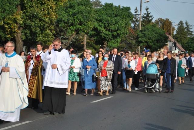 Mieszkańcy gminy Siedlec powitali ikonę obrazu jasnogórskiego.