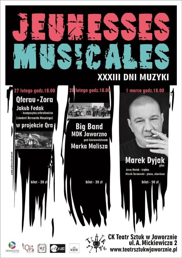 Jeunesses Musicales Jaworzno 2015. Wystąpi m.in. Marek Dyjak