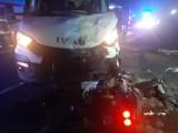 Wypadek na drodze krajowej nr 11. Dwaj nastoletni bracia ciężko ranni. ZDJĘCIA