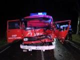 Strażacy z Borzytuchomia po wypadku już wyjeżdżają do akcji. Pomogli koledzy z Dąbrówki