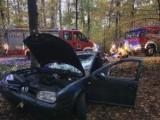 Wypadek koło Woli Rokszyckiej. Samochód uderzył w drzewo, kierowca był pijany