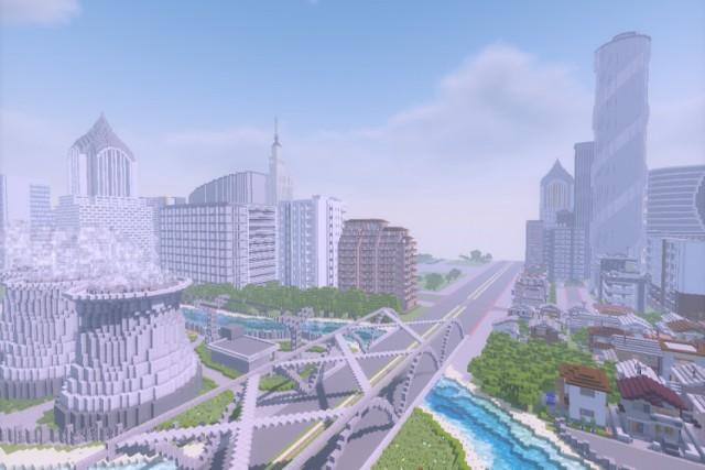 """Plac Centralny w Minecrafcie. """"Stolica do sześcianu"""" to konkurs, w którym młodzi ludzie mieli zaprojektować swoja wizję Placu Centralnego w Warszawie. Ale zamiast kartki i ołówka projektanci mieli do dyspozycji grę komputerową """"Minecraft""""."""