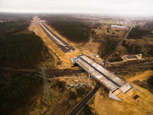 Teren budowy S3 Polkowice - Lubin - stan na koniec marca 2019 roku - niestety, wciąż aktualny, bo nic się do dziś nie zmieniło