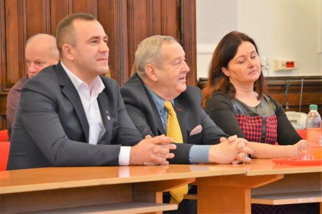 Od lewej: Marcin Bojaryn, Waldemar Gertner, Joanna Iwko