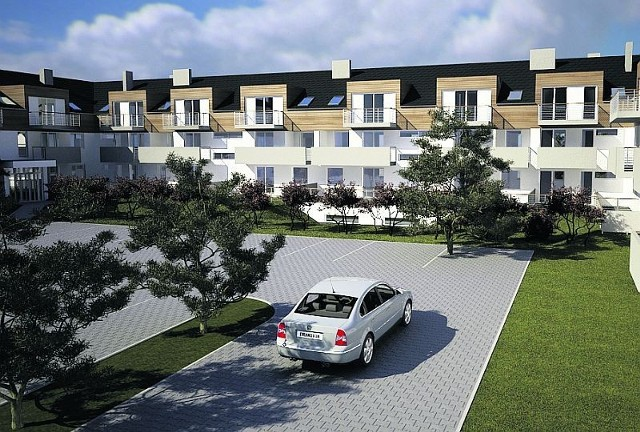 Wszystkie mieszkania będą miały balkony, a te na parterze - zielone tarasy