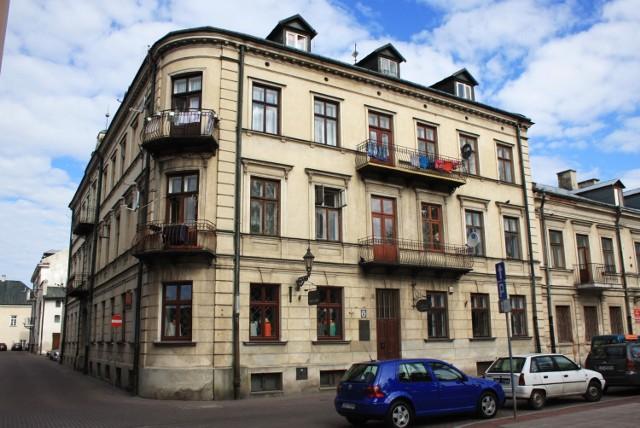 Dom przy ul. Kościuszki w Zamościu. Tutaj mieszkał poeta.