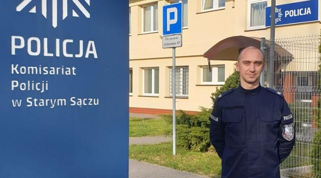 St. sierż. Paweł Mrowca z Komisariatu Policji w Starym Sączu oddaje krew od szesnastu lat.
