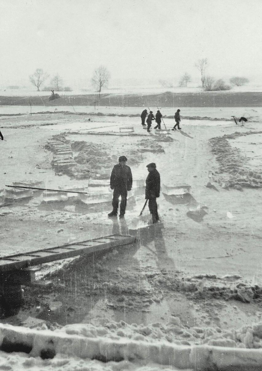 Zimowe zdjęcia z Krosna Odrzańskiego z dawnych lat.