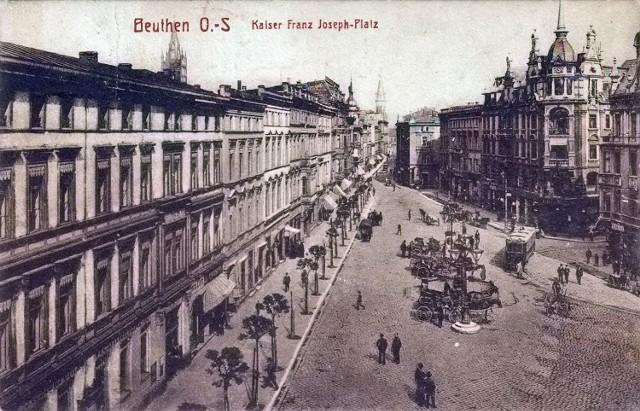 Historia Placu Kościuszki w Bytomiu na zdjęciach archiwalnych.  Zobacz kolejne zdjęcia. Przesuwaj zdjęcia w prawo - naciśnij strzałkę lub przycisk NASTĘPNE