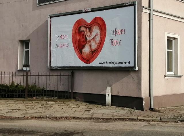 Antyaborcyjny billboard w lutym pojawił się również w Szamotułach