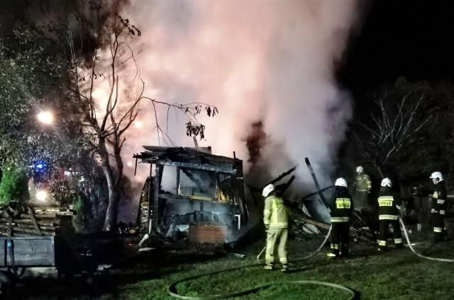 Akcja ratowniczo - gaśnicza trwała ponad półtorej godziny