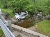 Gmina Wągrowiec. Wypadek. Samochód wypadł z drogi!