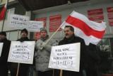 """""""Wolność słowa na Białorusi"""", protest w Legnicy [ZDJĘCIA]"""