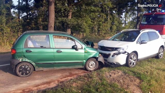 W wypadku w Żorach ucierpieli jadący daewoo mężczyźni.