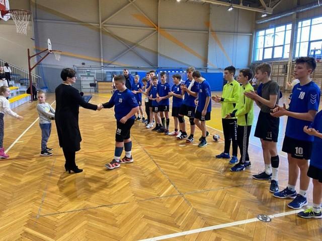 Towarzyski turniej piłki ręcznej w Libiążu z udziałem drużyny młodzików TS Zew I Świebodzin