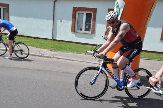 Tomasz Karolak w triathlonie w Szczecinku, rok 2013