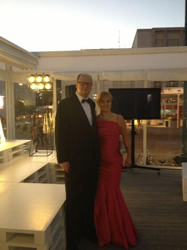 Prezydent Adamowicz z żoną w Wenecji