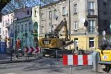 Trwa remont torowiska na ulicy Małachowskiego w Sosnowcu. Są drobne opóźnienia, ale prace powinny zakończyć się w terminie