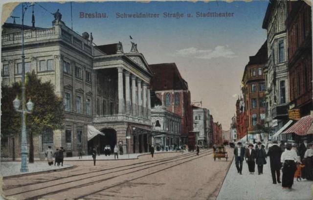 pocztówki przedwojennego Wrocławia,pocztówki Wrocław,stare pocztówki Wrocław