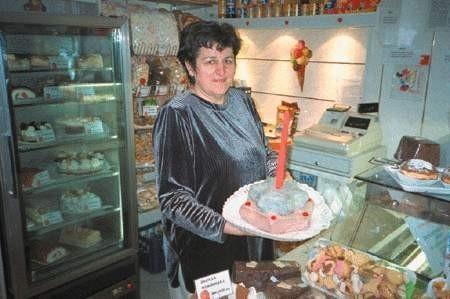 Monika Szostek w cukierni z trzypokoleniową tradycją. ŁUKASZ KLIMANIEC