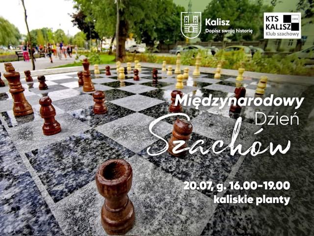 Międzynarodowy Dzień Szachów w Kaliszu. Przyjdź zagrać na plantach