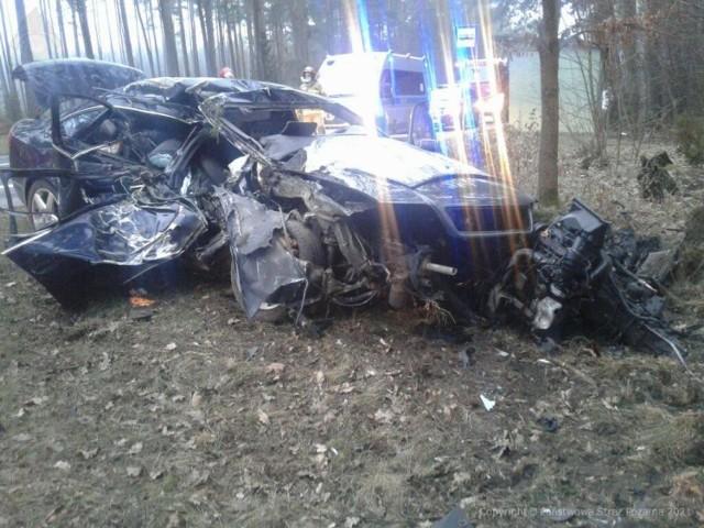 Wypadek na DK 22 w Gutowcu w powiecie chojnickim