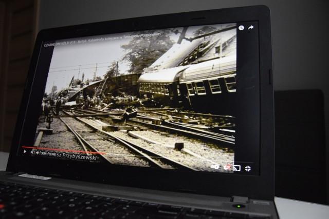 Film o katastrofie kolejowej w Terespolu Pomorskim przez pierwsze dwa dni obejrzało na YouTube około 40 tysięcy internautów