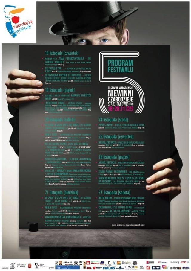 """Plakat V Festiwal Warszawski """"Niewinni Czarodzieje"""""""