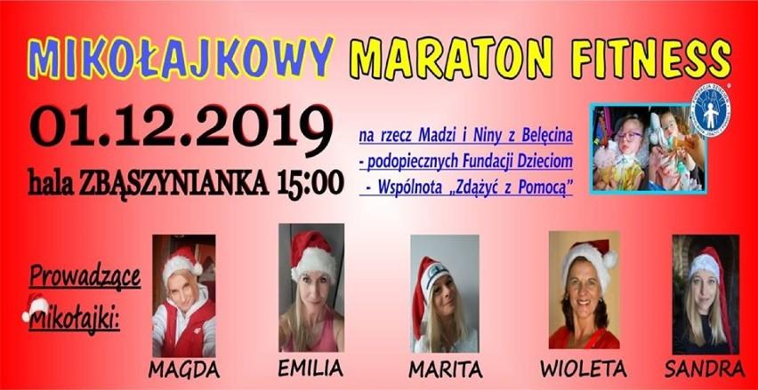 Mikołajkowy maraton fitness na rzecz Madzi i Niny z Belęcina - 1 grudnia 2019