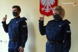 Żory: Dwóch nowych policjantów złożyło przysięgę w Komendzie Miejskiej Policji