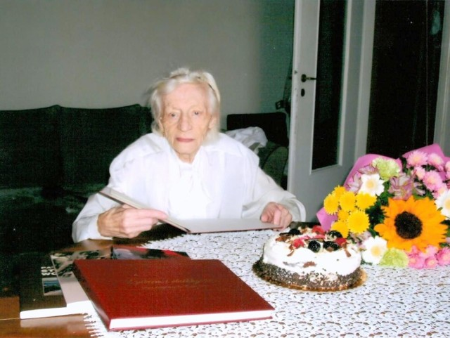 Jadwiga Lauterbach w dniu swoich setnych urodzin