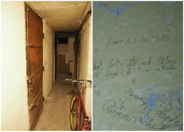 """W Kraśniku natrafiono na wyjątkowe znalezisko - podpisy osadzonych w katowni kontrwywiadu wojskowego. Zobacz zdjęcia! Kliknij w przycisk """"zobacz galerię"""" iprzesuwaj zdjęcia w prawo - naciśnij strzałkę lub przycisk NASTĘPNE."""