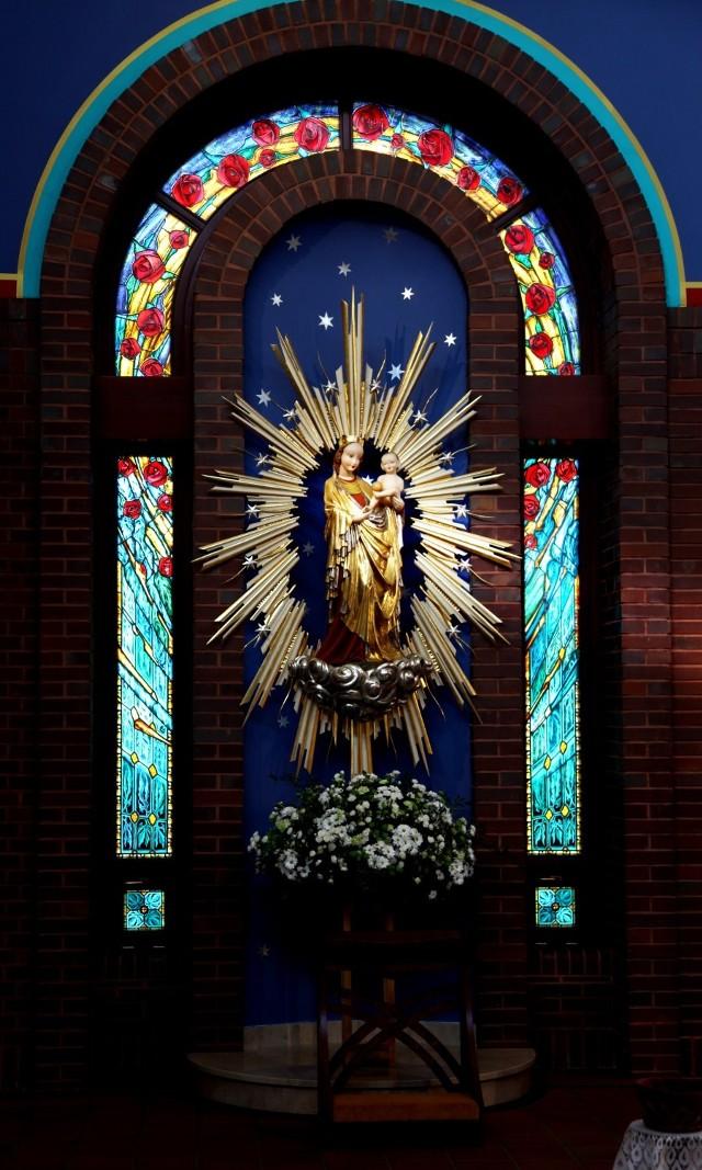 Kopia Madonny z Krużlowej w kościele Miłosierdzia Bożego w Tychach