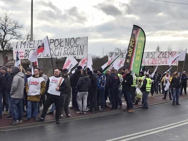 Jeden z protestów w Imielinie