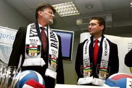 Jarosław Więckowski i Andrzej Jarosz z Mayland Real Estate stali się gorącymi fanami dąbrowskich siatkarek.