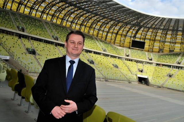 Prezes Bartosz Sarnowski jest jedną z dwóch osób, które pozostał w zarządzie Lechii Gdańsk