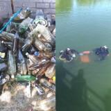 Sterta butelek, a nawet metalowe krzesło! Te śmieci znaleźli płetwonurkowie w jeziorze Glibiel w Łochowicach
