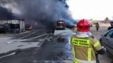 Toksyczny dym  nad Stobnem. Co było przyczyną wielkiego pożaru?