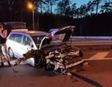 Rozbite auto pod Goleniowem, kierowca... zbiegł