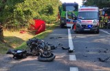 Tragedia w miejscowości Krasowa (gm. Rusiec). Znane są okoliczności śmierci motocyklisty