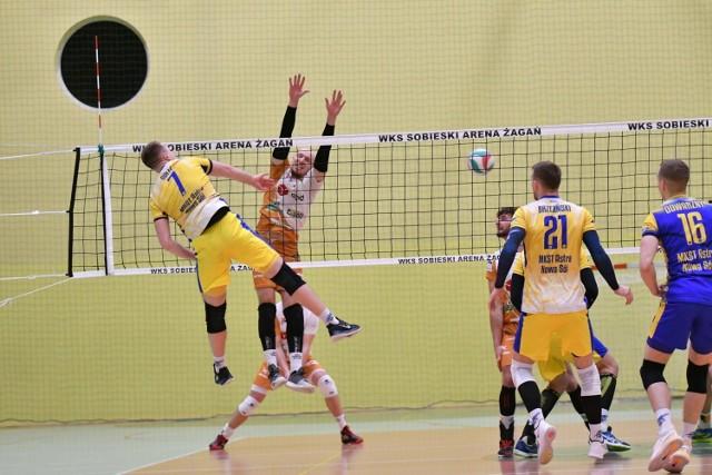 MKST Astra Nowa Sól na meczu WKS Sobieski Arena Żagań. Zdjęcia archiwalne