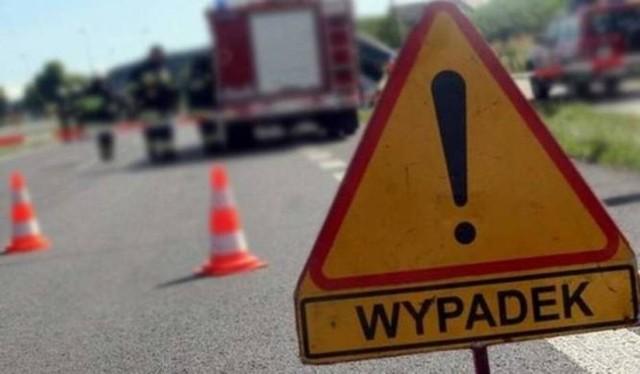 Wypadek na trasie Tarnówek - Rudna