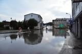 Żnin po ulewie. Ulica Kościuszki znowu zalana [zdjęcia, wideo, 10.08.2020]